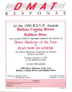 Barbara Canning Brown guest speaker at Toronto DMAT 1991