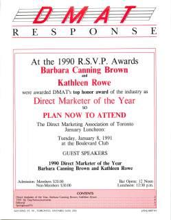 Barbara Canning Brown guest speaker at Toronto DMAT 1991