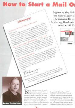 Barbara Canning Brown, Regal newsletter