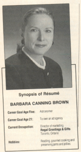 Barbara 1989, Direct Marketing Magazine