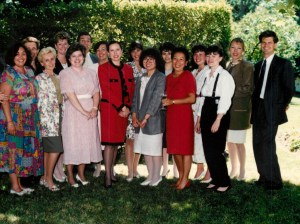 Barbara Canning Brown's good bye party, The Regal Team.  The best ever!! 1989