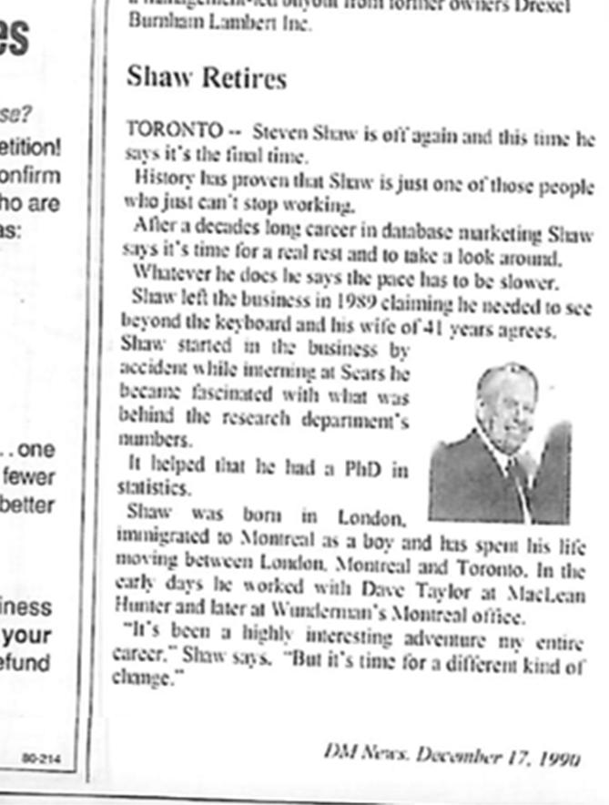 Steven Shaw editorial